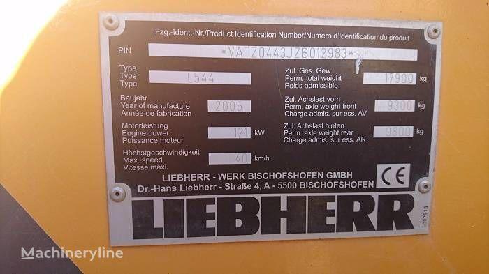 eje para LIEBHERR L 544 cargadora de ruedas